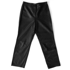 MixIt Genuine Leather High Waisted Leather Pants